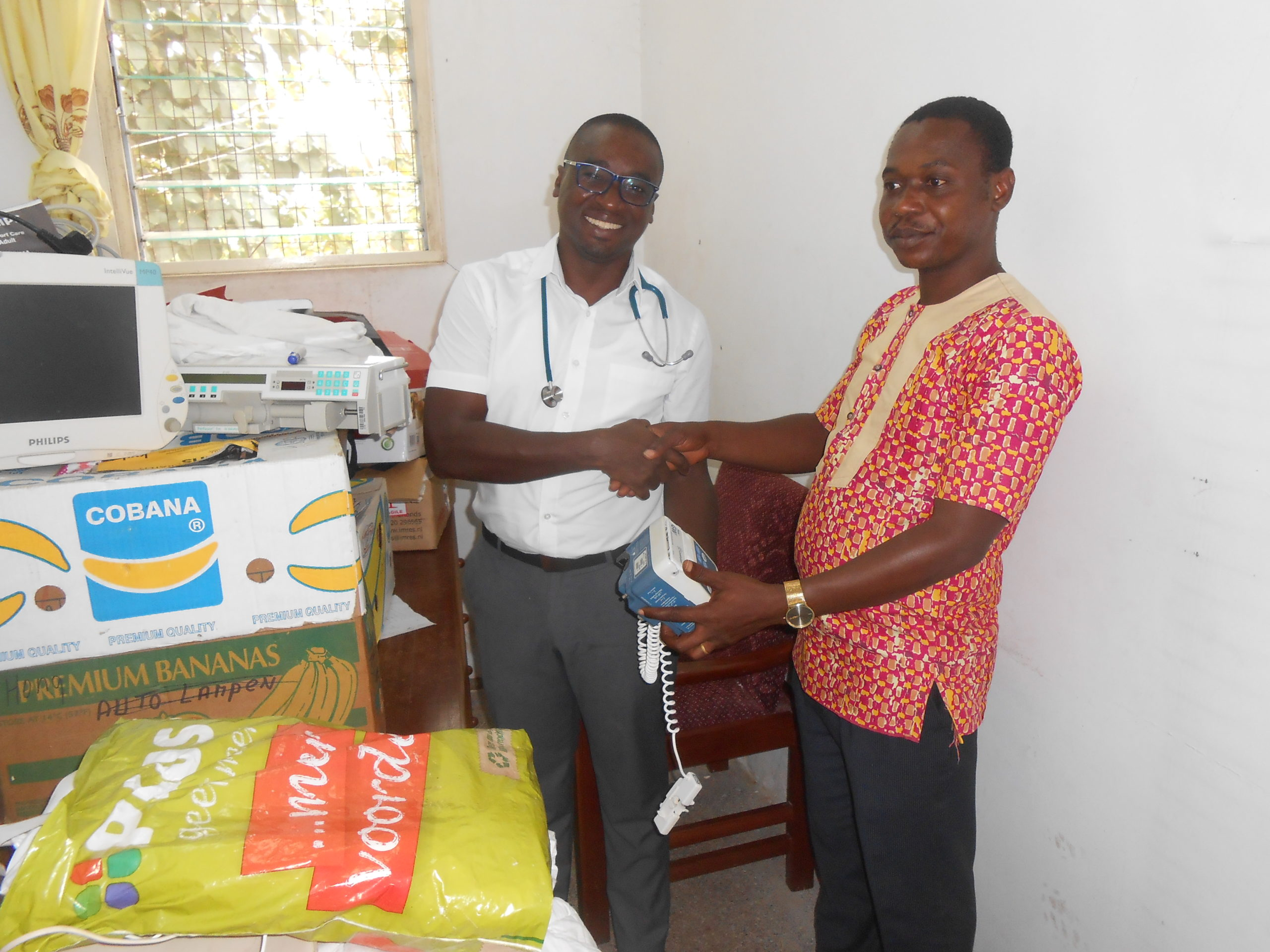 RAYBEN DIAGNOSTICS AND IMAGING LTD DONATES TO THE CHILDREN'S WARD OF PRESBYTERIAN HOSPITAL, AGOGO